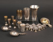(28pc) RUSSIAN AND CONTINENTAL SILVER