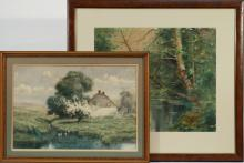 TWO LATE 19TH/EARLY 20TH C. WATERCOLORS