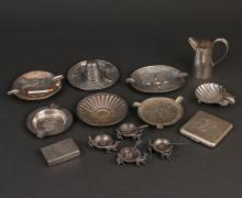 (14pc) MEXICAN STERLING TABLEWARE