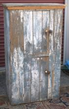 PAINTED COUNTRY CUPBOARD,