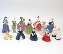 (13pc) ROYAL DOULTON FIGURINES