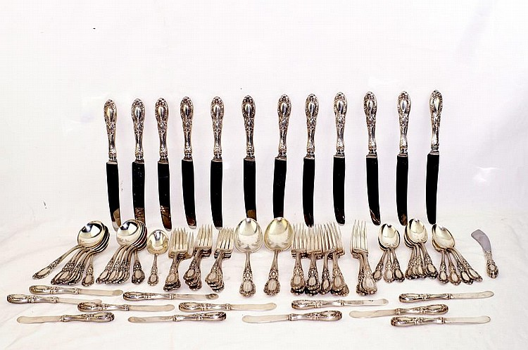 Towle sterling silver flatware set - app 78pcs