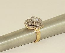14kt w.g. Diamond ring - round brilliant cut diam