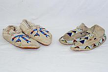 Sioux Indian beaded moccasins