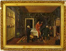 19th c. Oil on Canvas  painting