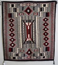 Navajo Rug  'Dazzler' Gray Black & White