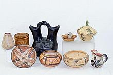 Group of Navajo Acoma pottery & baskets
