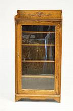 Antique Oak one-door bookcase