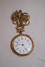 Waltham antique Ladies gold lapel watch