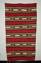 Navajo Ganado Red Beige & Black  Rug 76.5