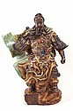 Chinese ceramic polychrome figure - Immortal