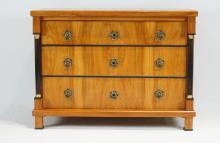Beidermeier 3 drawer chest Tulipwood