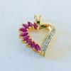 Ruby sterling heart pendant