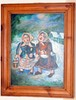 Signed oil Burliuk/vintage estate painting