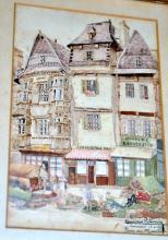 Watercolor signed Raperaiy? - French village scene