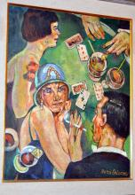 Signed oil Boris Grigoriev