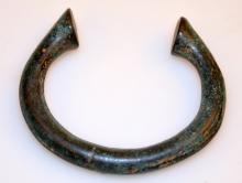 Antique bronze manil bracelet