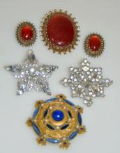 Vintage costume jewelry signed
