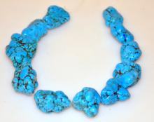Drilled turquoise beads/nuggets