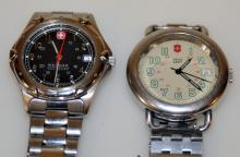 2 Swiss wristwatches/Army water resistant watch +