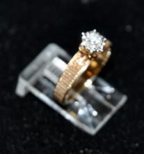 14k diamond 1/2 ct ring (approx)