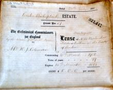 Parchment indenture 1911 /English property