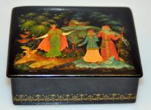 Vintage signed Lacquer box