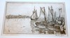 Antique Hayley Lever etching on copper/Gloucester