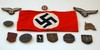 Nazi arm band, medals and patches
