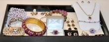 Costume jewelry collection/amethyst