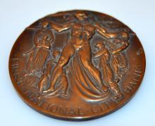 Bronze transportation vintage medal