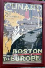 Cunard poster/advertising signed