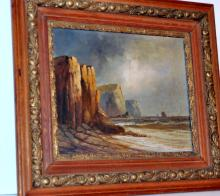 19thc oil/canvas signed F. Walters