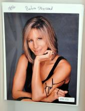 Autographed photo Barbara Streisand