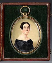 John Wood Dodge miniature, Mrs. Baker