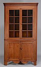 East TN walnut corner cupboard
