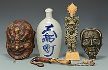 5 Asian Decorative Items inc masks