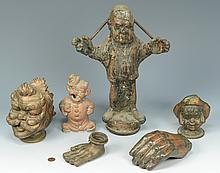 6 Copper Puppet Molds, People