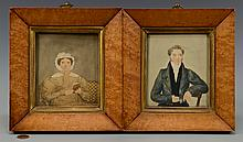 Pr. British miniature portraits, signed