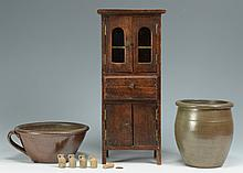 TN Miniature Cupboard & 2 Pcs. TN Pottery