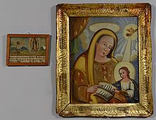 Religious Eglomise and Retablo