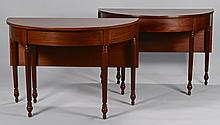 Pair of Mahogany Banquet Ends, W. Vincent