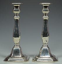 German .925 Silver Candlesticks