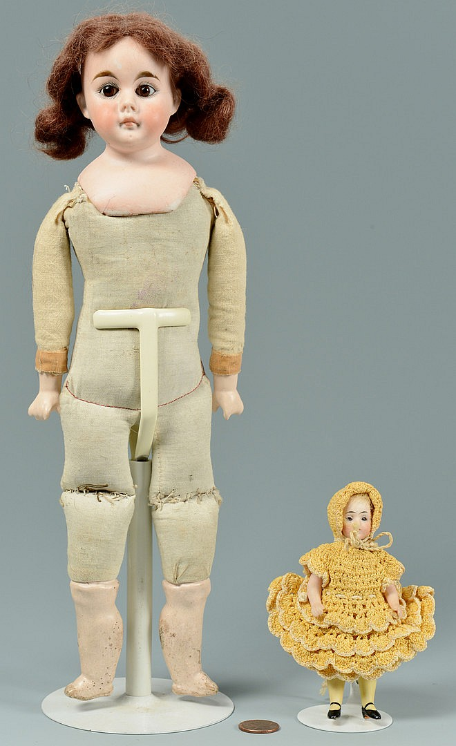 2 Bisque Dolls, Belton & German