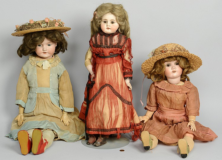 3 large German Dolls