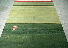 UNUSUAL HAND KNOTTED MODERN GABBEH AREA RUG