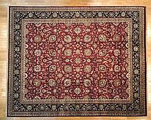 UNUSUAL HAND KNOTTED NEW ZEALAND WOOL KASHAN AREA RUG