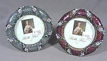 PAIR ENAMEL AND METAL ROUND FRAMES