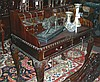 HAND CARVED CHIPPENDALE STYLE MAHOGANY WRITING DESK