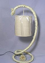 PAIR ROPE MOTIF TABLE LAMPS